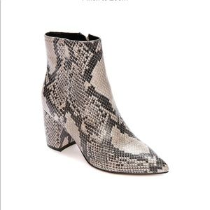 NWT Marc Fisher Snakeskin Heeled Booties Boots